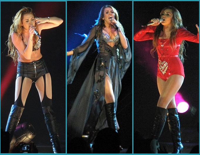 Miley Cyrus Gypsy Heart Tour Costumes